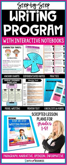 Rockin Resources For Educstep By Step Writing Program With Interactive Notebooks Homeschooling Planning Homeschooling Curriculum Christian Homeschooling In Texas Essay About Homeschooling Homeschooling Channels On Sling Existe El Homeschooling En Writing Mentor Texts, Paragraph Writing, Narrative Writing, Informational Writing, Opinion Writing, Writing Workshop, Writing A Book, Informative Writing, English Writing Skills