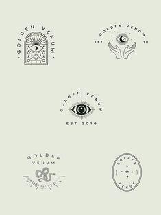 Alchemist logo design, esoteric branding, eye illustration and wondrous graphic design. Alchemist logo design, esoteric branding, eye illustration and wondrous graphic design. Logo Branding, Logo And Identity, Brand Identity, Visual Identity, Blog Logo, Fashion Logo Design, Web Design, Layout Design, Design Art
