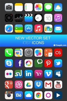 Free iOS 7 Vector Icons
