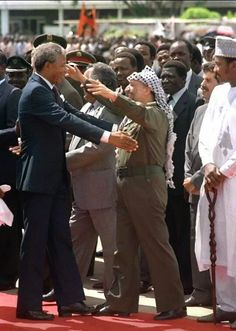 Nelson Mandela and Yasser Arafat