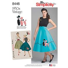 Poodle Skirts | Poodle Skirt Costumes, sewing Patterns, History Simplicity Vintage