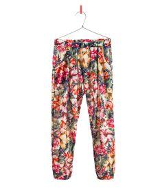 FLORAL TROUSERS - Trousers - Girl - Kids - ZARA United Kingdom SS13