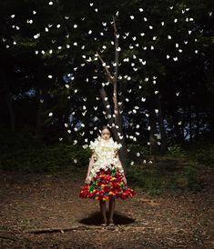 Daisy Balloon (Artist Rie Hosokai & Art Director/Graphic Designer Takashi Kawada) / Title: Company Philosophy-Exnviation (Look3: Exuviation) / 2013