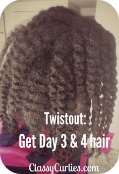 Make your twist out last. ClassyCurlies.com