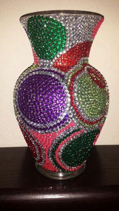 Colored circles vase