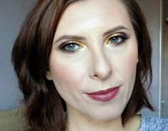 Makeup tutorial: yellows on the eyes, eye look created with Zoeva Blanc Fusion palette