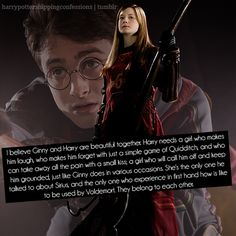 omg Harry and Ginny are perfect for each other they love each other sooooo much