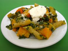 Butternut Squash & Spinach Pasta