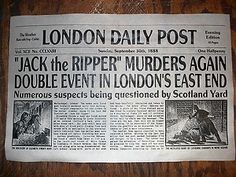 This Day in History: Apr 03,1888: The first of 11 unsolved brutal murders occurs in Whitechapel.http://dingeengoete.blogspot.com/ http://i.ebayimg.com/t/NOVELTY-POSTER-HALLOWEEN-JACK-the-RIPPER-LONDON-SERIAL-KILLER-11-x17-417-/00/$(KGrHqIOKjoE5YtT6vl9BOgD-97w)!~~_35.JPG