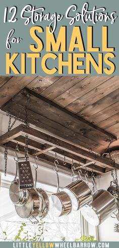 A small kitchen renovation that uses simple and easy DIY projects to maximize the space.  12 storage solutions to create an organized and efficient kitchen regardless of the size.  Small farmhouse style kitchen.
