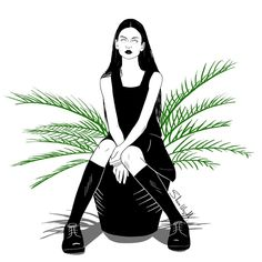 "822 Me gusta, 9 comentarios - Shaza.Wajjokh (@shaza.wajjokh) en Instagram: ""Draw me like one of your French plants #draw #sketch #sketchbook #graphicdesign #digitalart…"""