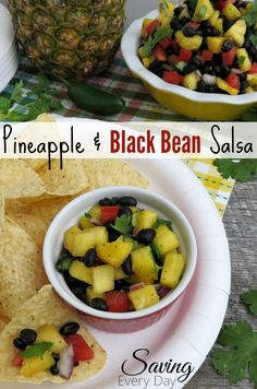 sweet and spicy pineapple, black bean salsa recipe that's perfect ...