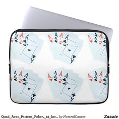 Quad_Aces_Pattern_Poker,_13_Inch_Laptop_Sleeve Computer Sleeves