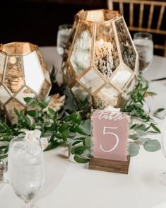 Hurricane Lanterns, Hurricane Glass, Centerpiece Ideas, Centerpieces, Acrylic Table, Mercury Glass, Handmade Wedding, Table Numbers, Event Design