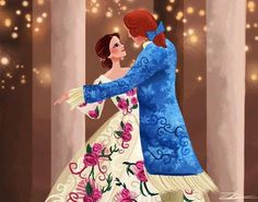 Belle and prince Adam (the beast)