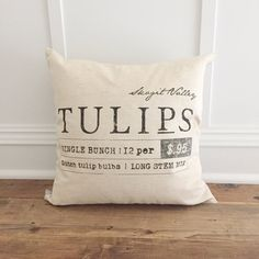 Tulips Pillow Cover by SoVintageChic on Etsy