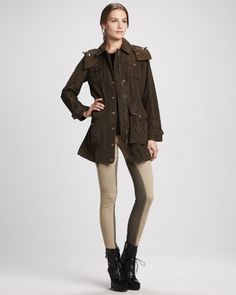 Skinny Power-Stretch Riding Pants by Burberry Brit at Neiman Marcus.  Size 26
