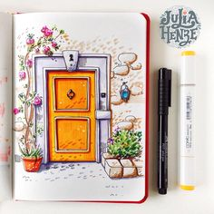 This yellow door cheers me up a little bit on this cold and rainy day. But I want summer to come back sooo badly! Day 8/31 of #inktober #inktober2017 #urbansketching #urbansketch #ar_sketch #architecturalsketch #door #copicmarker #copicsketch #sketcheveryday #art_we_inspire #topcreator #architecture #archsketching #doordrawing #art #sketchbook #sketchaday #dailysketch #doorsketch #doorscollection #doorsandwindows #world_doorsandwindows #artjournal #traveljournal #doors_aroundtheworld #...