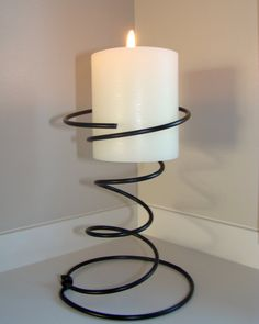 Bedspring Candle Holder  Cleaned and Painted by oldpainteddoor, $6.00