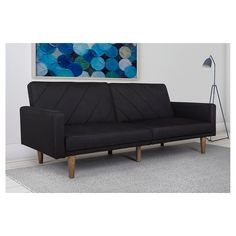 The Paxson Futon Has A Smart Modern Look With Clean Lines In Daytime Position Couchsectional Sofleeper