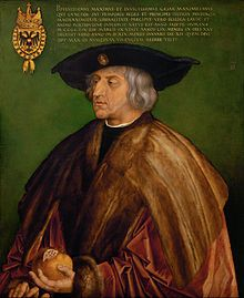 Albrecht Dürer - Portrait of Maximilian I - Google Art Project. Holy Roman Emperor. 1st husband by proxy to Anne of Brittany.