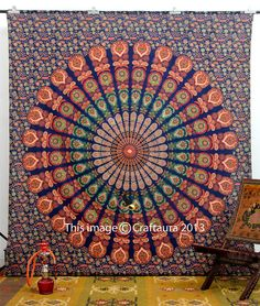 Mandala Tapestries, Hippie Tapestries, Tapestry Wall Hanging, Wall Art, Hippie Wall Tapestries, Indian Tapestry, Bohemian Dorm Tapestries on Etsy, € 19,14