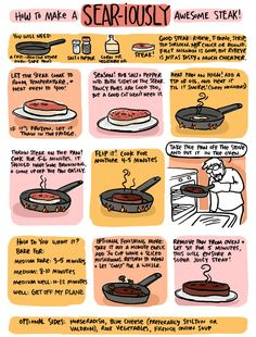 "How to Sear a Sear-iously awesome steak. (Love the ""Well: GET OFF MY PLANE"")"