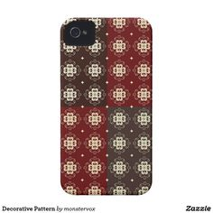 Decorative Pattern iPhone 4 Case #Decorative #Design #Zazzle #Patterns #Mobile #Phone #Case #Cover #iPhone