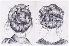 hair drawing Art Print