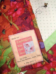 Flourishing Palms: Making Quilt Labels