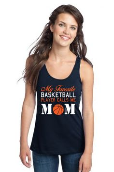 my favarite baskelball player calls me mom - Racerback Tank