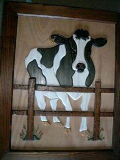 Cow Intarsia Wood, Dremel Tool, Scroll Saw Patterns, Marquetry, Wood Work, Cows, Bird Houses, House Ideas, Carving