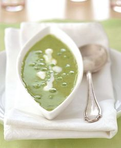 Fresh pea & mint soup #rooirose
