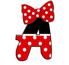 Indice de alfabetos de Minnie Mouse.
