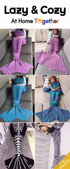 Realize your #Mermaid #Dream At Home. | #FreeShipping | #Mermaid #Blanket | #ForFamily | Start From $5 | Up To 75% OFF | Sammydress.com