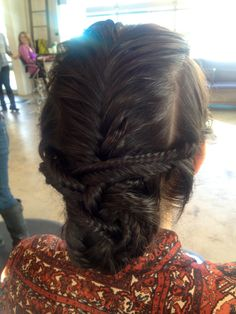 Funky braided updo, so cute!