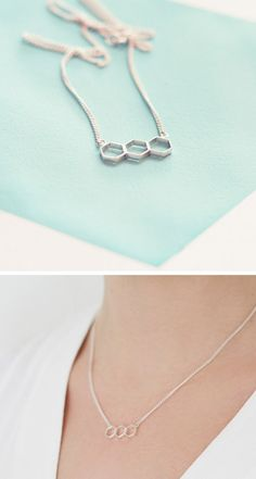 Hex Bar Necklace - cute for layering