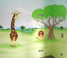 Ζωα της ζουγκλας ζωγραφικη παιδικου δωματιου Murals, Wall Paintings, Mural Painting, Wall Murals, Mural Art