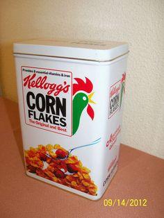 Vintage 1984 Kellogg's Corn Flakes Tin Box