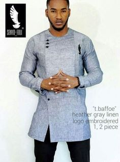 Senyo Foli is a long standing brand with it's prime focus on quality and style. Although it has been around for a fair amount of time, Senyo Foli made a major African Shirts For Men, African Dresses Men, African Attire For Men, African Clothing For Men, African Wear, African Style, African Women, Nigerian Men Fashion, African Print Fashion