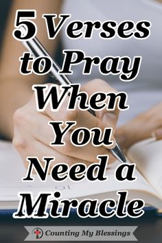 5 Verses to Pray When You Need a Miracle We receive so many prayer requests from people who need a miracle. If you are someone who needs God to do the impossible, these verses and prayers will help you go to God and ask Him for help. Prayer Scriptures, Bible Prayers, Faith Prayer, God Prayer, Faith In God, Exam Prayer, Scripture Verses, Bible Quotes, Wisdom Quotes