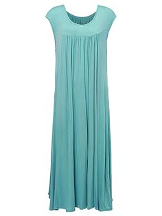 Sale 27% (24.99$) - Casual Women Sleeveless Ruffle Tunic Baggy Maxi Dress