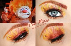 Heat Mister inspired eyeshadow.  That is smoking!