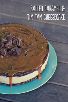 Salted Caramel and Tim Tam Cheesecake Recipe Here: http://loveswah.com/2014/06/salted-caramel-and-tim-tam-cheesecake/