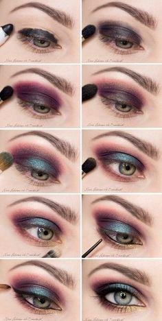 oczy zielone makijaz tutorial - Szukaj w Google