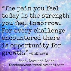 Pain Today = Strength Tomorrow