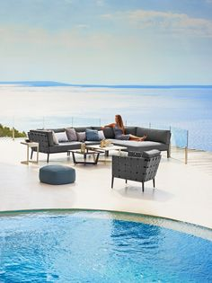 tribs vis vis sofa is an exclusive outdoor sofa in teak with weather resistant cushions heminredning pinterest teak an and vis - Outdoor Lounge Vis A Vis