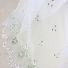 Top Fashion Wedding Dress Material Evening White Floral Embroidery Organza Lace Fabric for dress #Affiliate