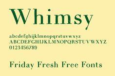 Friday Fresh Free Fonts - Espacio Novo, Whimsy, Drugs Thin