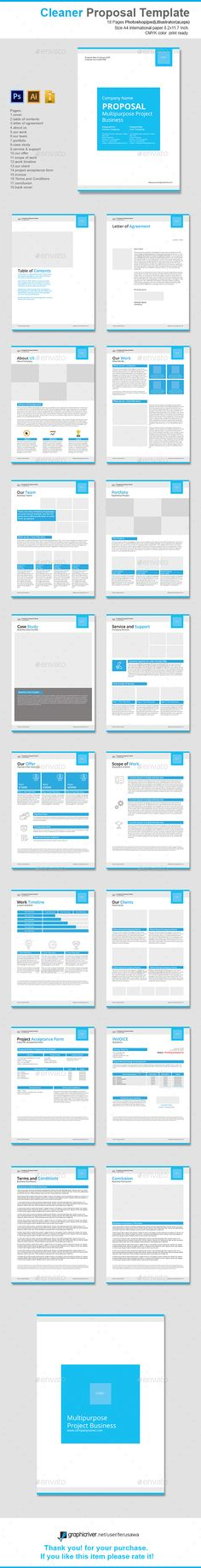 Clean Business Proposal Business proposal template, Business - company proposal template